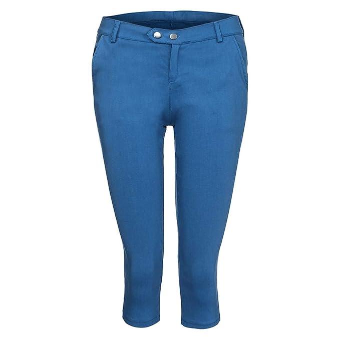 570ef620b33d7 YWLINK Damen Kleidung,Mode Frauen Plus GrößE Solide Knopf ReißVerschluss BeiläUfige  Hosen Kurz Geschnittene Hose
