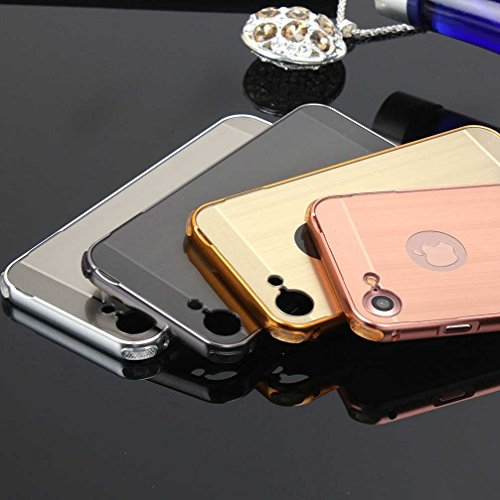 """4.7"""" iPhone 7 Coque, AOFad Case Tréfilage Mince Protection des lourds noir Métal Noble Accessoires Série Pour Femme Homme L004"""