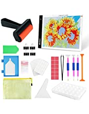 $21 » Wsdart 132PCS Diamond Painting LED Light Pad Kit- Diamond Art Light Board with 5D Painting Tools, Apply to Full Drill & Partial Drill 5D Diamond Painting with Roller