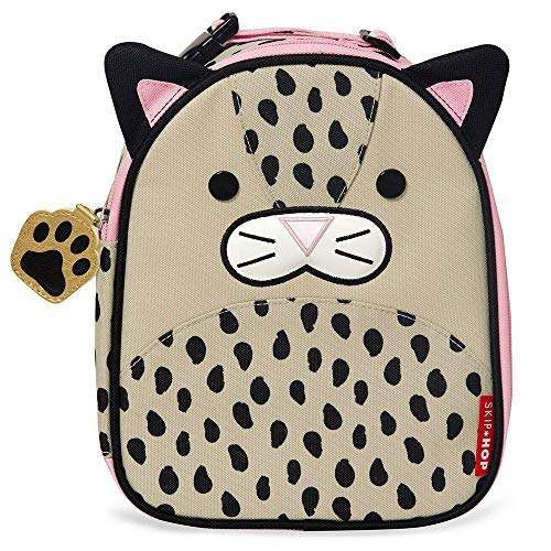 Skip Hop Zoo Kids Insulated Lunch Box, London Leopard, Brown