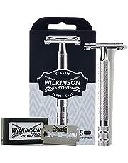 Wilkinson Sword Classic Vintage hoogwaardige scheermes incl. 5 dubbele messen van massief metaal - voor een bijzonder nauwkeurige en zachte scheerbeurt