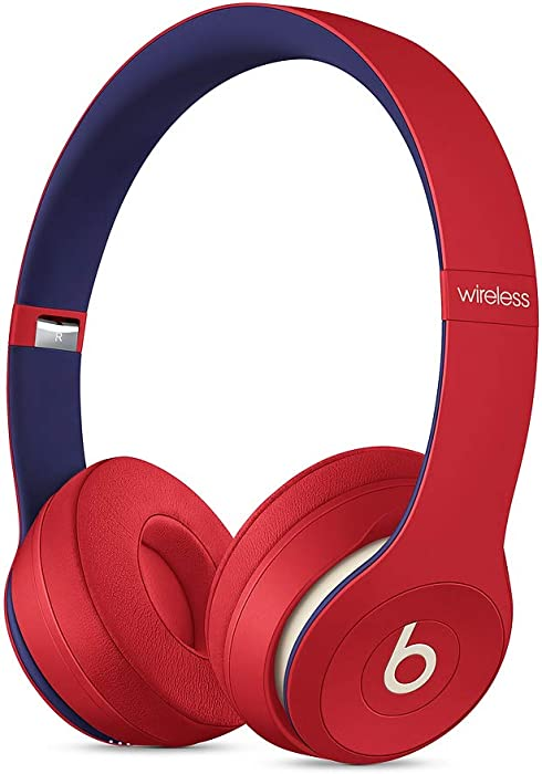 Beats Solo3 Wireless On-Ear Headphones - Apple W1 Headphone Chip, Class 1 Bluetooth, 40 Hours Of Listening Time - Club Red (Latest Model)