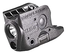 Streamlight 69270 TLR-6 Tactical Pistol Mount Flashlight 100 Lumen with Integrated Red Aiming Laser Only for Glock 42/43, Black - 100 Lumens