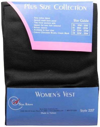 A Size Above Plus Size Vented Mesh Back Salon Stylist Vest, 3X by A Size Above (Image #1)