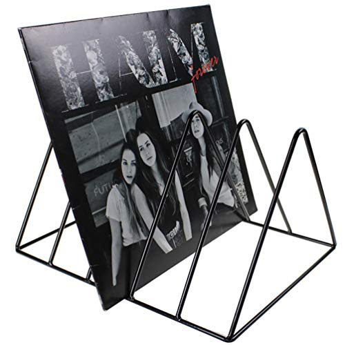 Record-Happy Vinyl Record Storage Holder Stand - Premium Vinyl Coated Metal Wire Rack Holds up to 50 Album Lp