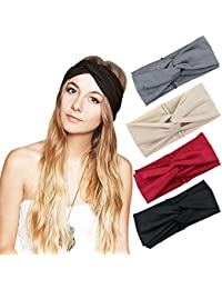 Cross Headbands Vintage Elastic Head Wrap Stretchy Moisture Hairband Twisted Cute Hair Accessories
