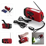 JahyShow US Ship Emergency Solar Hand Crank Dynamo AM/FM/WB Weather Radio LED Flashlight Charger