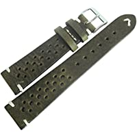 Fluco Hunter Racing 22mm Green Leather Watch Strap