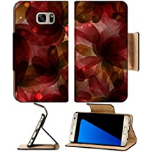 MSD Premium Samsung Galaxy S7 Edge Flip Pu Leather Wallet Case IMAGE ID 19883144 Flowers with transparent petals Abstract floral background