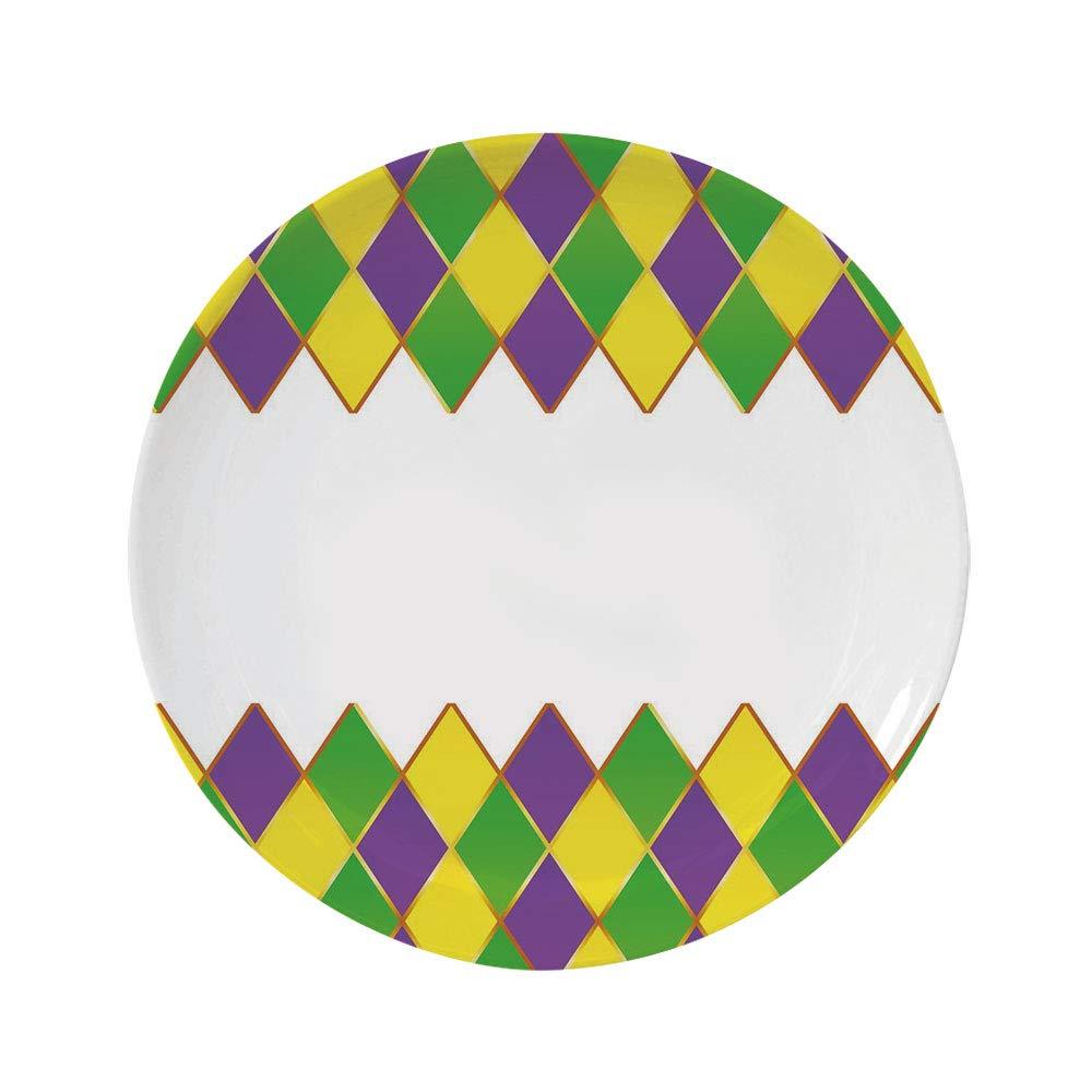 Arrow Decor 6 Dinner Plate,Native American Inspired Retro Pattern Mod Graphic Design Boho Art Print Ceramic Decorative Plates,Dining Table Tabletop Home Decor,Red Orange Yellow