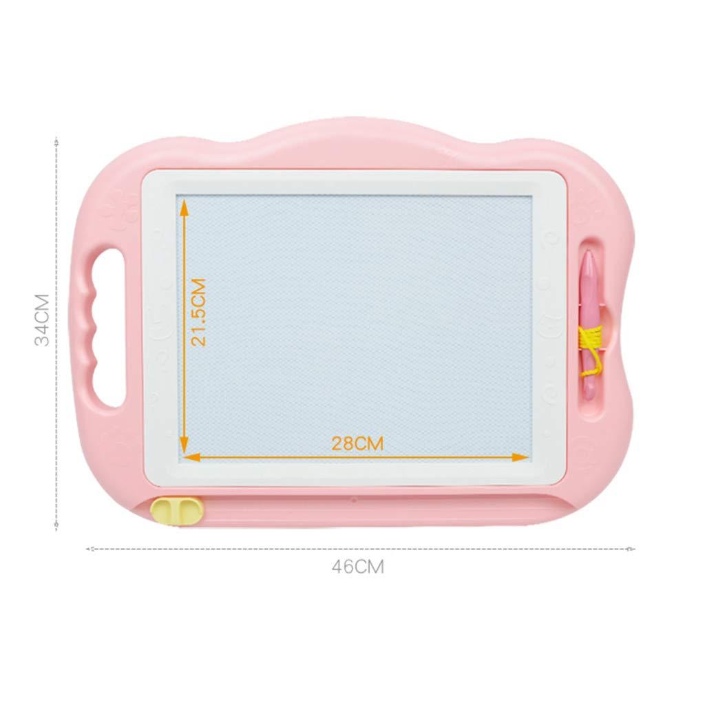 Staubfreies bemaltes Brett Kinderspielzeug Kinderspielzeug Kinderspielzeug Magnetic Large Writing Board (Farbe   Rosa) e1b341