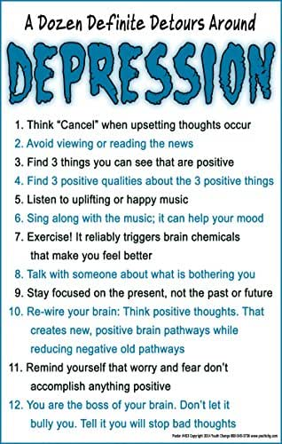 Youth Change Mental Health Counseling Poster Has Help for Depression (Poster #453)