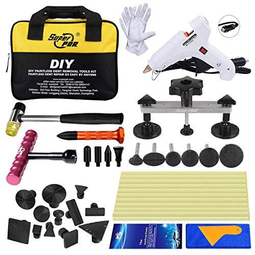 Super PDR DIY New 29pcs Top PDR Tool Glue Pulling Tabs Works with All Glue Pullers Nickel Car Body Repair Tools+dent Removel T Bar Tools