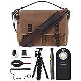 ONA - The Prince Street - Camera Messenger Bag - Field Tan Waxed Canvas & Photographers Accessory Kit