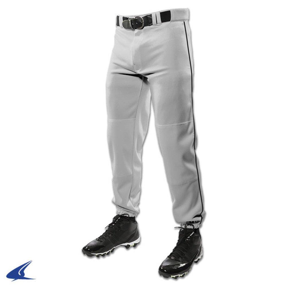 Champro bp91 Closed Bottom Baseball Pant W三つ編み大人用bp91大人用 B01MG3WEY9 Medium Grey, Black Pipe Grey, Black Pipe Medium