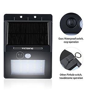 VicTsing 4 Pack 20 LED Lampe Solaire Extérieure Alimenté par Panneau