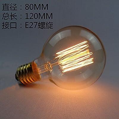 Wong 40w Retro Fil Tungstène Vintage Lampes Lampe Décoré Edsion De 76bvgYfy
