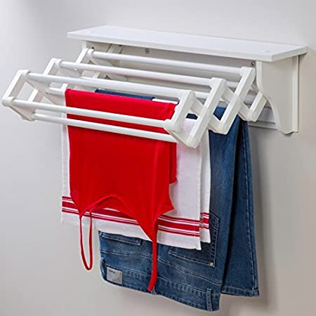 E Saving Compact Wall Mounted Indoor Expandable Accordion Style Clothes Dryer Folding Laundry Hanging Wash Line