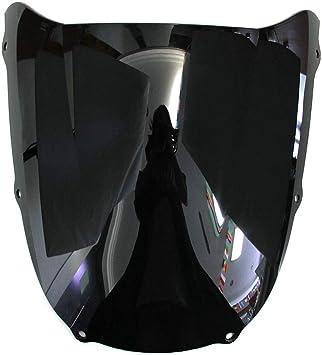 Motorrad Windschutzscheibe Shield Wind Screen Windschutzscheibe Für Kawasaki Ninja Zx6r 1998 1999 Schwarz Bright Black Auto