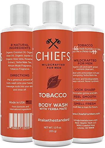 Chiefs For Men: Natural Body Wash with Yerba Mate - Organic Body Wash For Men - One 12 oz Bottle - Deep, Revitalizing Clean - Made With Real Organic Oils - Powerful Formula (Facts About Oz The Great And Powerful)