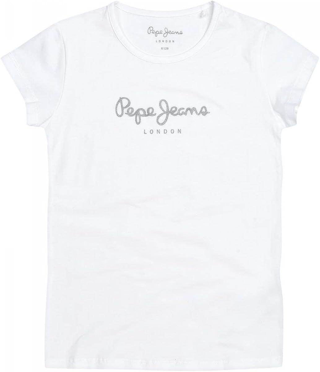 Pepe Jeans Hana Glitter S//S T-Shirt Bambina