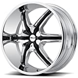 """Helo HE891 Chrome Wheel with Gloss Black and Chrome Accents (20x8.5""""/5x114.3mm, +35mm offset)"""