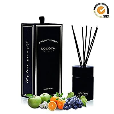 LALATA Reed Diffuser Essential Oil Clementine Mandarin Citrus Scent in Gift Box, Natural Scented Long Lasting Fragrance Oil for Aromatherapy and Air Freshener