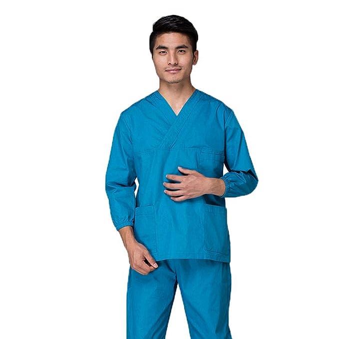 YUENA CARE Set de Uniforme Médico - Ropa Quirúrgica de Manga Larga para Mujeres Bata Médico Veterinario Laboratorio Enfermera Sanitaria: Amazon.es: Ropa y ...