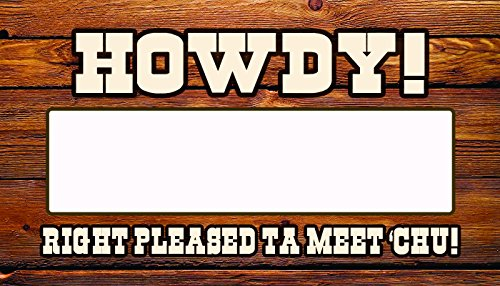 (Western Party Name Tags, Name Badge Writable Stickers! Cheery Country Tags That Ignite Conversation Pardner! (90)