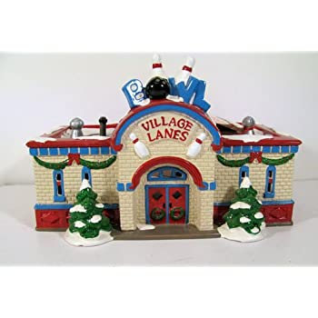 """Auction Express Online - Dept. 56 """"Bowling Alley"""" Snow ...  