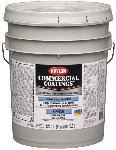 Sherwin Williams Gidds 800490 Krylon Interior Semi Gloss White Paint 5 Gallon