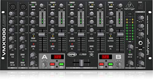 Behringer Pro Mixer VMX1000USB Professional 7-Channel Rack-Mount DJ Mixer with USB/Audio Interface Behringer Pro Dj Mixer