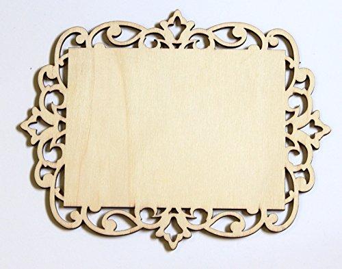 Cardinal Arts & Crafts Unfinished Laser Cut Wood 5x7 Plaque, Set of 4
