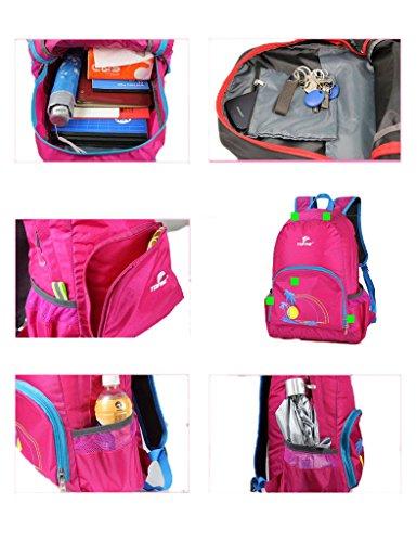 25L Ligero Bolsoable Práctico Durable De Viaje Casual Mochila Púrpura Morado