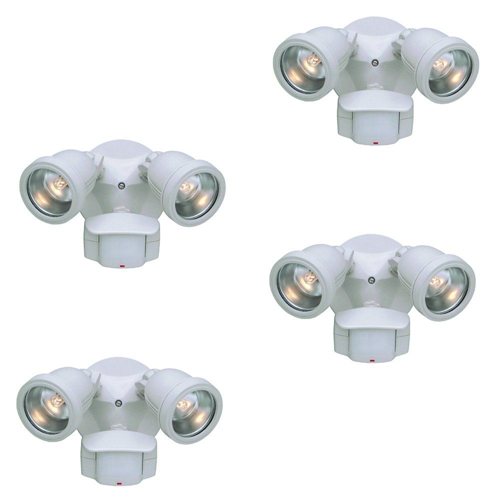 Designers Fountain PH218S-06-4 Area & Security 180° QH Motion Detector (4 Pack), 9''