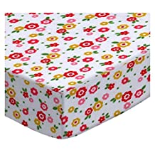 SheetWorld Fitted Oval Crib Sheet (Stokke Sleepi) - Mini Floral - Made In USA - 26 inches x 47 inches (66 cm x 119.4 cm)