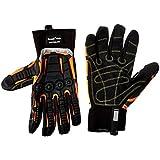 Cestus Pro Series Deep II Grip Impact Glove, Work, Cut Resistant