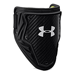 Under Armour Men\'s Gameday Armour Batter\'s Elbow Guard, Black/High-Vis Yellow, Large/X-Large
