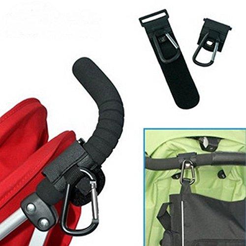 asdomo Universal para sillita de paseo Cochecito de bebé Clip ganchos bolsa de la compra gancho soporte