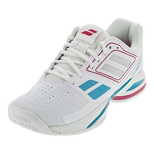 Babolat Propulse Team BPM All Court Women's Tennis Shoes (White/Pink) (5.5 B(M) US)