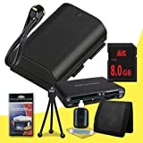 Canon EOS 70D DSLR Camera with 18-55mm STM f/3.5-5.6 Lens LP-E6 Lithium Ion Replacement Battery + 8GB SDHC Class 10 Memory Card + Mini HDMI Cable + Multi Card USB Reader + Memory Card Wallet + Deluxe Starter Kit  DavisMAX Accessory Bundle