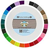 Country Brook Design | Durable 1 Inch Heavy Nylon Webbing | 29 Vibrant Colors (White, 50 Yards)