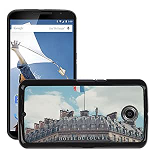 Super Stella Slim PC Hard Case Cover Skin Armor Shell Protection // M00421569 Building Hotel Classic Architecture // LG Google Nexus 6