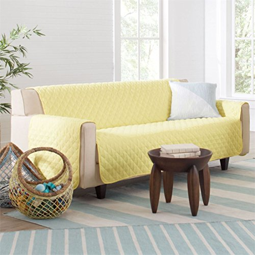 BrylaneHome Bh Studio Water-Repellent Microfiber Sofa Protector (Yellow,0) by BrylaneHome