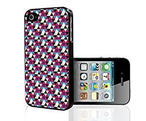 Colorful Triangle Pattern Hard Snap on Phone Case (iPhone 4/4s)