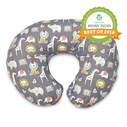 Boppy Original Nursing Pillow and Positioner, Sketch Slate Gray, Cotton Blend Fabric with allover fashion (Boppy 2 Sided Cotton Slipcover)