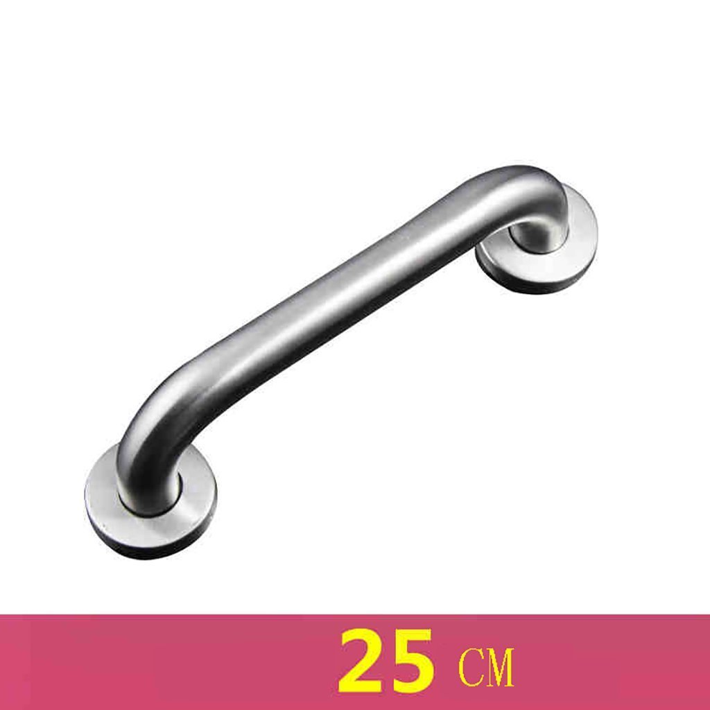 YAOHAOHAO Stainless steel bath rooms anti-slip end of railway handle Old Man's handrail grip of security for the glass cloakroom shower toilet shower safety bars (Size: 25 cm). by YAOHAOHAO