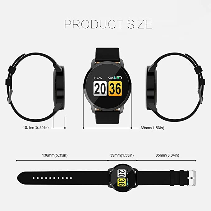 Amazon.com: Smart Waterproof Sports Watch Watch Heart Rate Blood Oxygen Monitor OLED Screen Bluetooth Pedometer Male Female (Color : Silver): Cell Phones & ...