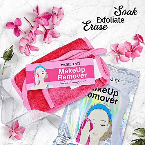 MYSTERE BEAUTE Makeup Remover Cloth – Makeup Remover, Face Towel – Reusable for Removing Face Makeup, Dirt & Oil – for…
