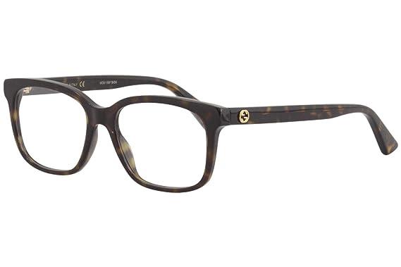 1bd8bc9ef6982 Gucci - Monture de lunettes - Femme Avana Medium  Amazon.fr ...